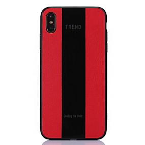 olcso iPhone tokok-Case Kompatibilitás Apple / Nokia iPhone XS Max / iPhone 6 Ütésálló Fekete tok Vonalak / hullámok Kemény PU bőr mert iPhone XS / iPhone XR / iPhone XS Max