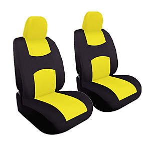 cheap Car Seat Covers-4pcs/set Universal Car Front Seat Cushion Cover  Head Cushion Cover Breathable Cloth Seat Cover Pad Set