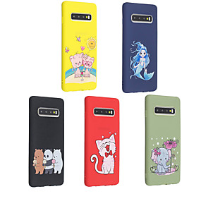 cheap Shop by Phone Model-Case For Samsung Galaxy Galaxy S10 Plus / Galaxy S10 E Frosted / Pattern Back Cover Animal / Cartoon Soft TPU for S9 / S9 Plus / S8 Plus