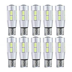 voordelige Auto-achterverlichting-10 stuks T10 Motor / Automatisch Lampen 5 W SMD 5630 10 LED Nummerplaatverlichting / Achterlicht / Zijmarkeringslichten Voor Universeel Alle jaren