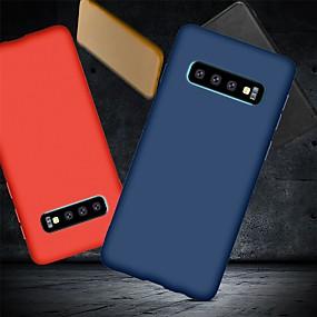 voordelige Galaxy S7 Edge Hoesjes / covers-hoesje Voor Samsung Galaxy S9 / S9 Plus / S8 Plus Schokbestendig / Ultradun / Mat Achterkant Effen Zacht TPU