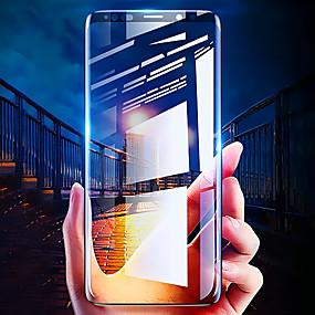 זול אביזרים ל-Samsung-מגן מסך עבור Samsung Galaxy S8 / s8 פלוס / s9 / s9 בתוספת 3D מעוקל מלא זכוכית מזג 1 מגן מסך מולטימדיה בחדות גבוהה הגדרה (HD) / 9h קשיות / הוכחה פיצוץ
