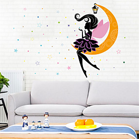 cheap Decoration Stickers-Decorative Wall Stickers - Plane Wall Stickers Stars / Fairies Bedroom / Indoor