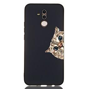 voordelige Huawei Honor hoesjes / covers-hoesje voor huawei honor 10 / honor 10 lite / honor 9 lite schokbestendig / frosted / patroon achterkant kat tpu zacht voor huawei honor 8a / honor v9 spelen / mate 20 lite / mate 20 pro / mate 10
