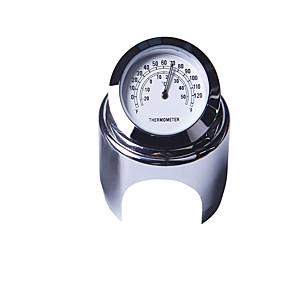 voordelige Motor- & ATV-onderdelen-22-25mm motorfiets stuur klok thermometer waterdicht dial stuurhouder voor yamaha kawasaki etc.