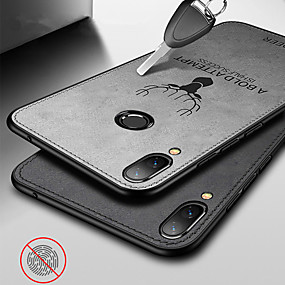 voordelige Huawei Honor hoesjes / covers-canvas reliëf hert geval voor huawei eer 8x 8x max cover op eer 9 lite eer 9i eer 9 eer 10 lite eer 10 eer 7c eer 7x eer v20 eer v10 eer v9 doek weven zachte siliconen tpu rand