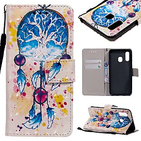 voordelige Galaxy A3(2016) Hoesjes / covers-hoesje Voor Samsung Galaxy A6 (2018) / A6+ (2018) / Galaxy A7(2018) Portemonnee / Kaarthouder / Schokbestendig Volledig hoesje Cartoon Hard PU-nahka