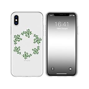 olcso iPhone tokok-Case Kompatibilitás Apple iPhone X / iPhone XS Max Minta Fekete tok Virág Puha TPU mert iPhone XR / iPhone XS Max / iPhone X