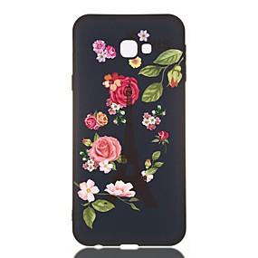 voordelige Galaxy J3(2017) Hoesjes / covers-hoesje voor Samsung Galaxy J730 / J6 (2018) / J530 Schokbestendig / Mat / Patroon Achterkant Bloem TPU Soft voor Galaxy J330 / J6 Plus / J4 Plus / J4 2018 / M10 / M20 / M30 / J310 / J510 / J3 / J2 Pro