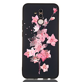 voordelige Huawei Honor hoesjes / covers-hoesje voor huawei honor 10 / honor 10 lite / honor 9 lite schokbestendig / frosted / patroon achterkant bloem tpu zacht voor huawei honor 8a / honor v9 spelen / mate 20 lite / mate 20 pro / mate 10