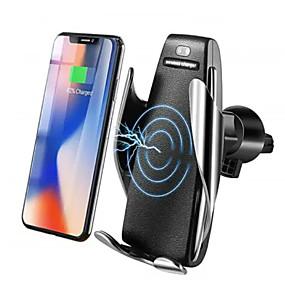 voordelige Autoladers-10 W Draadloze Infrarood Sensor Automatische Vastklemmen Snelle Autolader Mount Holder Stand Draadloze Oplader Qi Snel Auto Vastklemmen Mount Ventilatie voor Samsung / iPhone X XS / Huawei P30 Mate20