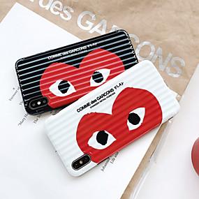 Недорогие Сортировать по модели телефона-Кейс для Назначение Apple iPhone XS / iPhone XR / iPhone XS Max Ультратонкий / С узором Кейс на заднюю панель С сердцем / Мультипликация ТПУ
