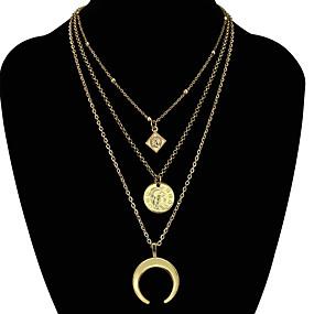 billige Lagvise halskjeder-Dame Halskjede lagdelte Hals Chrome Gull 61 cm Halskjeder Smykker 1pc Til Daglig Skole Gate Ferie Festival