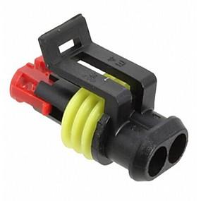 voordelige Motor- & ATV-onderdelen-10 sets / pak 2 pins nylon verzegelde waterdichte ip68 elektrische draad connector plug auto auto-accessoires