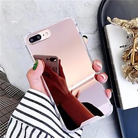 Недорогие Кейсы для iPhone 8 Plus-Кейс для Назначение Apple iPhone XS / iPhone XR / iPhone XS Max Зеркальная поверхность / Ультратонкий Кейс на заднюю панель Однотонный ТПУ