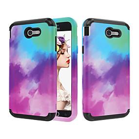 voordelige Galaxy J7 Hoesjes / covers-hoesje Voor Samsung Galaxy J7 / J3 (2018) / J3 Schokbestendig Achterkant Kleurgradatie PC