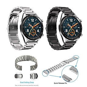 cheap Daily Deals-Watch Band for Huawei Watch GT Huawei Classic Buckle Stainless Steel Wrist Strap