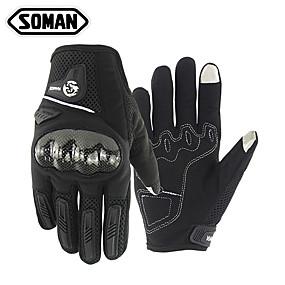 voordelige Motorhandschoenen-Soman unisex motorhandschoenen koolstofvezel / microfiber / polyester aanraakscherm / warm / slijtvast