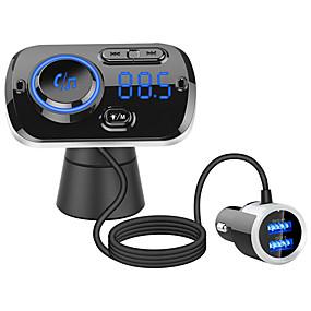 voordelige Motorhelm headsets-qc3.0 snel opladen handsfree draadloze bluetooth carkit fm-zender radio mp3-speler dual usb-oplader