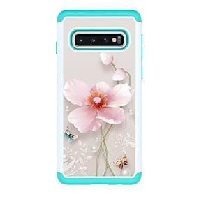 voordelige Galaxy S7 Hoesjes / covers-hoesje Voor Samsung Galaxy S9 / S9 Plus / S8 Plus Schokbestendig / Patroon Achterkant Bloem PU-nahka