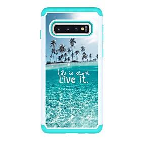 voordelige Galaxy S7 Hoesjes / covers-hoesje Voor Samsung Galaxy S9 / S9 Plus / S8 Plus Schokbestendig / Patroon Achterkant Landschap PU-nahka