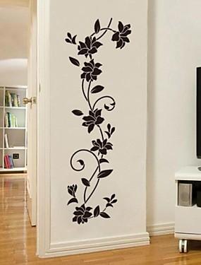 hesapli Ev Büyük Promosyon-Dekoratif Duvar Çıkartmaları - Uçak Duvar Çıkartmaları Romantizm / Moda / Botanik Oturma Odası / Yatakodası / Yemek Odası / Yıkanabilir / Çıkarılabilir