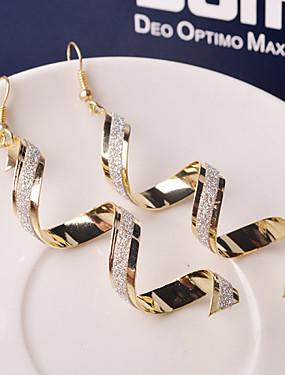 رخيصةأون $0.99 مجوهرات مقلدة-نسائي أقراط قطرة - موجة سيدات موضة مجوهرات فضي / ذهبي من أجل زفاف مناسب للحفلات مناسب للبس اليومي فضفاض