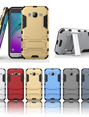 ieftine Carcase Mobil-Maska Pentru Samsung Galaxy Samsung Galaxy Carcasă Anti Șoc / Cu Stand Capac Spate armură Greu PC pentru J7 (2016) / J7 / J5 (2016)