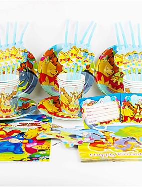 Χαμηλού Κόστους Διακοσμητικά για γιορτές και πάρτι-Γουίνι το Αρκουδάκι 92pcs πάρτι γενεθλίων διακοσμήσεων παιδιά evnent προμήθειες κόμμα κόμμα 12 άνθρωποι χρησιμοποιούν