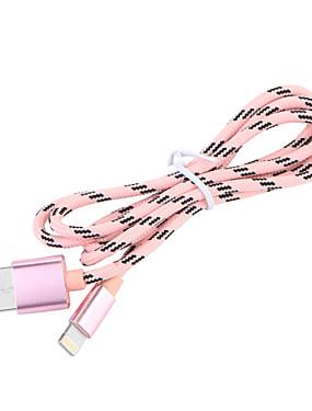 levne Prémiové značky-USB 3,0 / Osvětlení Kabel / Nabíjecí kabel / Data a synchronizace Pletený Kabel iPad / Apple / iPhone pro 100 cm Pro Nylon