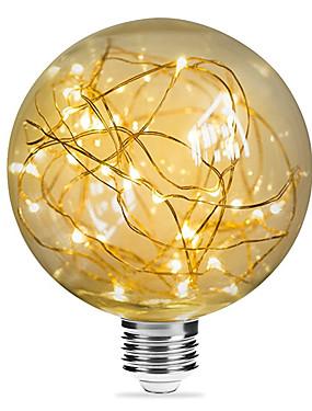 Χαμηλού Κόστους Λαμπτήρες LED με νήμα πυράκτωσης-1pc 3 W 200 lm E26 / E27 LED Λάμπες Πυράκτωσης G95 33 LED χάντρες SMD Διακοσμητικό / Έναστρος / Χριστουγεννιάτικη διακόσμηση γάμου Θερμό Λευκό 85-265 V / RoHs