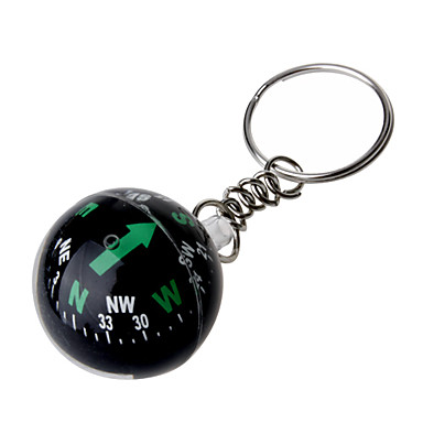 bola de cristal chaveiro bússola