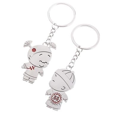 nehrđajućeg ljubitelji keychains (dječak i djevojčica / 2-dijelni set)