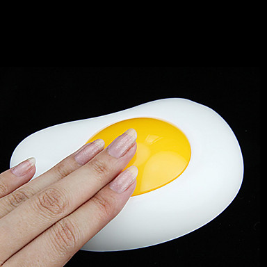 Lovely Fried Egg Design Yellow Light Night Lamp (3xAA)
