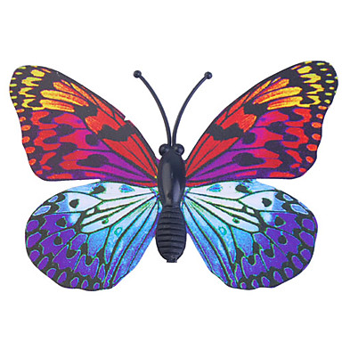Glow-in-dark butterfly 6pcs maison mur 3d papillon autocollants avec broche&rideaux aimant de décoration