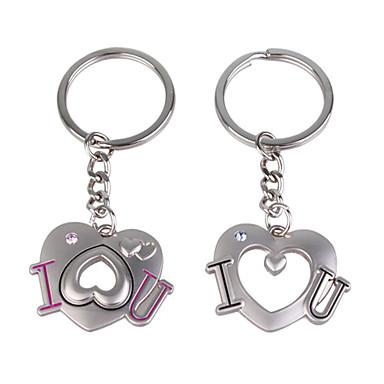 avaimenperä avaimenperä söpö seos pari ketju sydän muoto lahja valentines