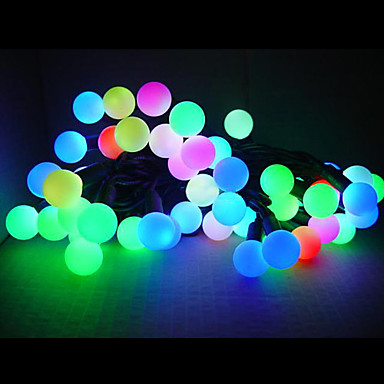 5M Colorful Light LED Ball String Lamp (110/220V)