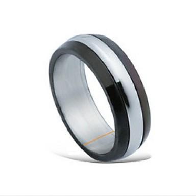 el hombre de moda del metrosexual anillo de acero de titanio (rss12)