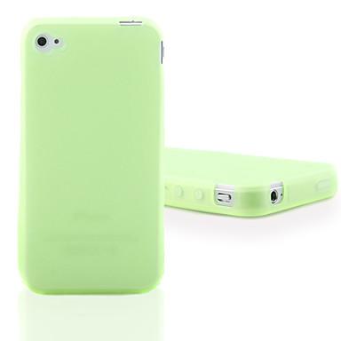 iPhone 4 İçin Yeşil Florasan Silikon Kılıf