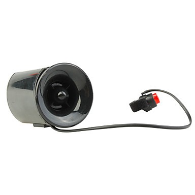 Electronic Bicycle Power Horn with Flashing and Mount (120dB)