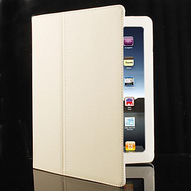 Kova PU-nahka suojakuori jalustalla Apple iPad 2:lle (valkoinen)