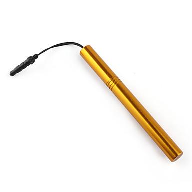 rostfritt pekskärm penna med anti-damm plugg för iPad, iPhone, iPod touch, Xoom och Playbook (Golden)