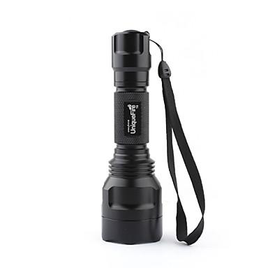 Uniquefire Torce LED LED 1000 lm 3 Modo Cree XM-L T6 Campeggio/Escursionismo/Speleologia Nero