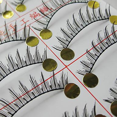 Natural Looking False Eyelashes (10 Pair)