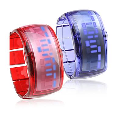 par armbånd design fremtidens blå LED armbåndsur - blå & rød