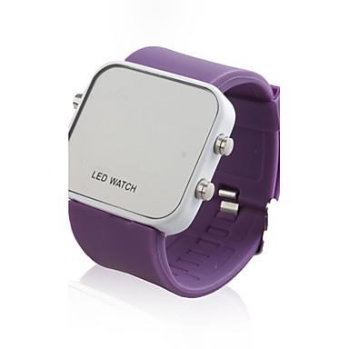 Relógio LED Jelatinoso (Púrpura)
