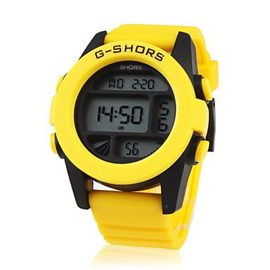 waterdichte sportieve beweging digitale stopwatch met nachtlampje - geel
