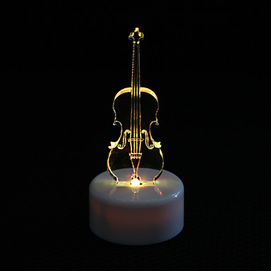 Violin Design Colorful LED Night Light Christmas Festival Decoration