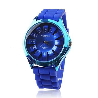 Blå Silikonrem Klokke