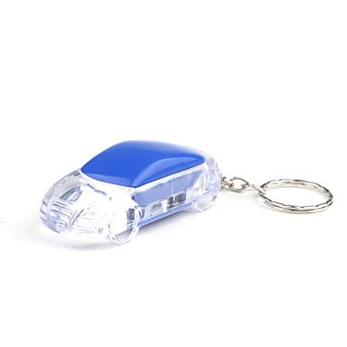 mote plast bil nøkkelring ledet lommelykt lys blå